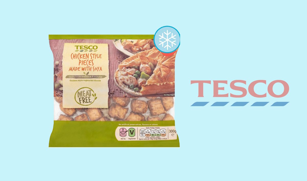 Tesco Launches Its Own Brand of Heat-and-Serve Vegan Chicken