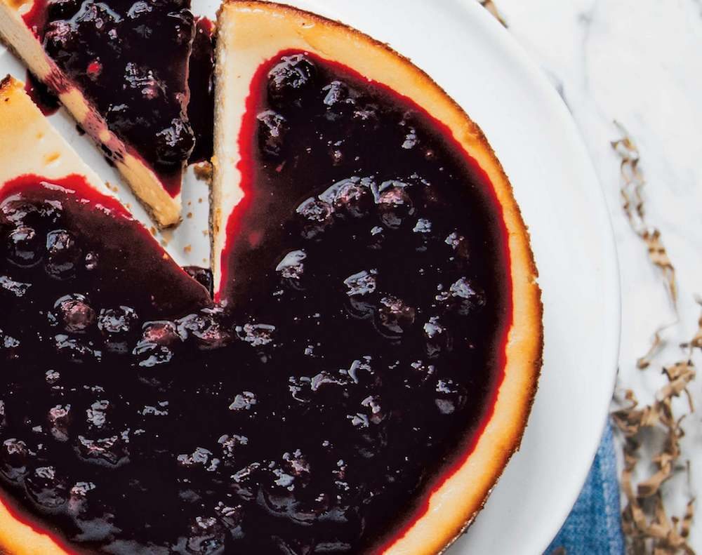 Baked Blueberry Cheeescake (1)