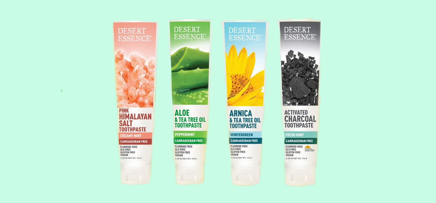 TITLE PEND Desert Essence Debuts New Vegan and Carrageenan-Free Toothpastes