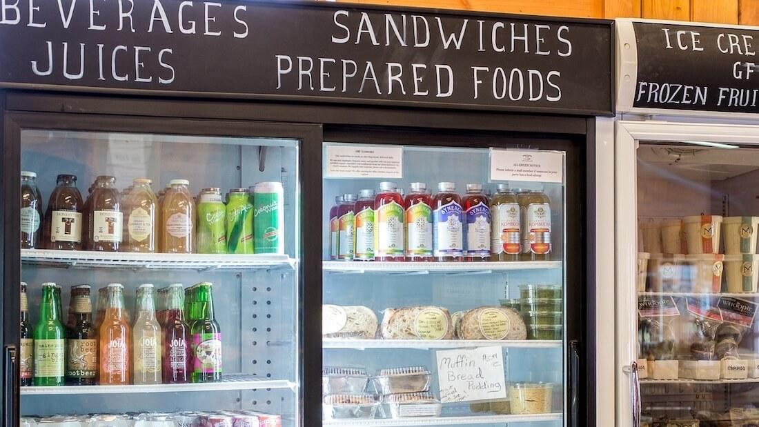refrigerated grab-and-go section