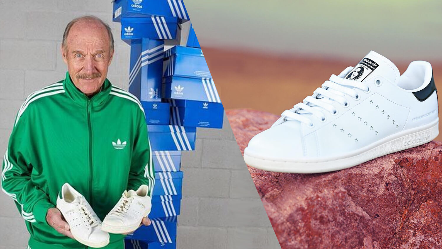 Tennis Legend and Sneaker Icon Stan Smith Loves Stella McCartney's New Vegan Leather Shoes