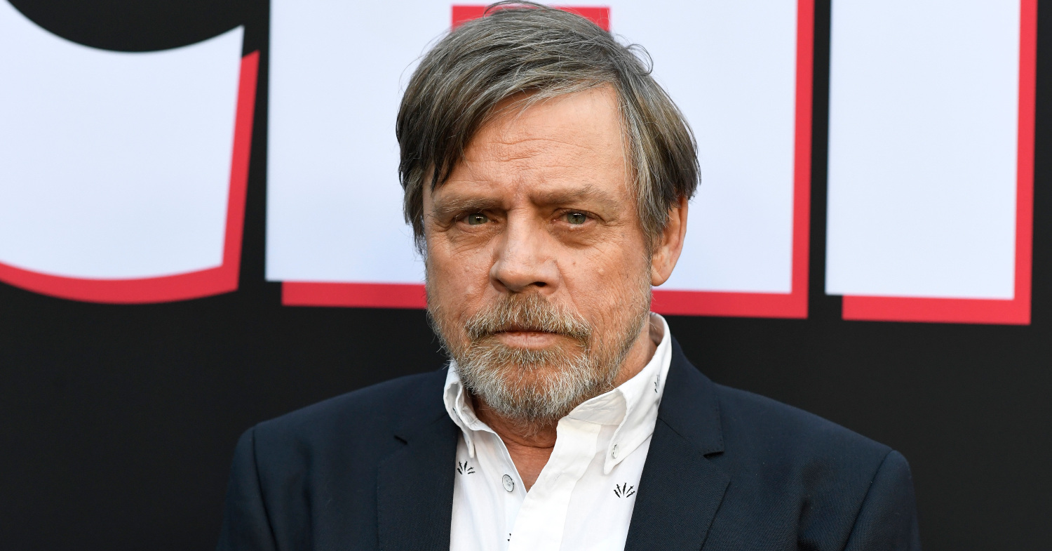 Photo of Mark Hamill at a premiere. The actor voiced his support for Jane Goodall and the chimpanzees she protects.
