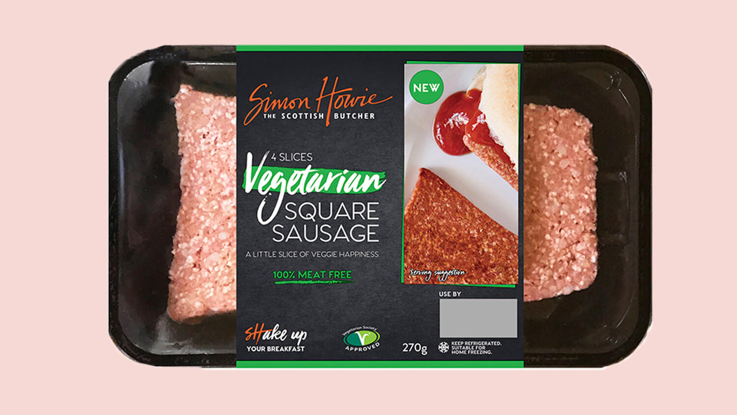 Vegan Square Scottish Breakfast Sausage Now Available in Morrisons and Aldi