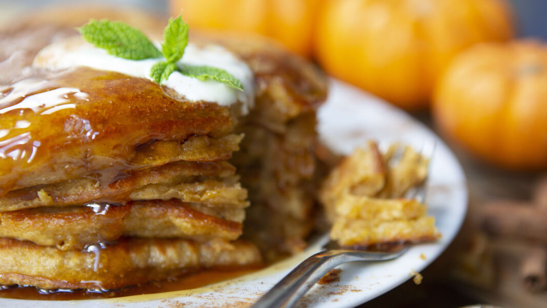 Use Up Your Leftover Pumpkin in These Vegan Fall Pancakes