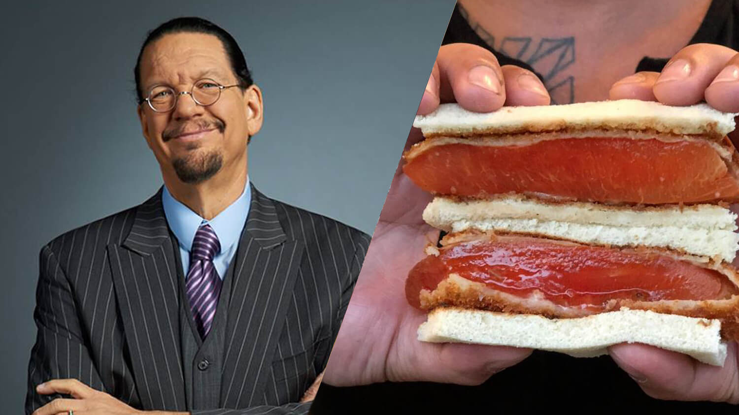 Penn Jillette swears that one of the best vegan meals is a whole watermelon. The comedian and magician adopted a plant-based diet to reverse health issues.