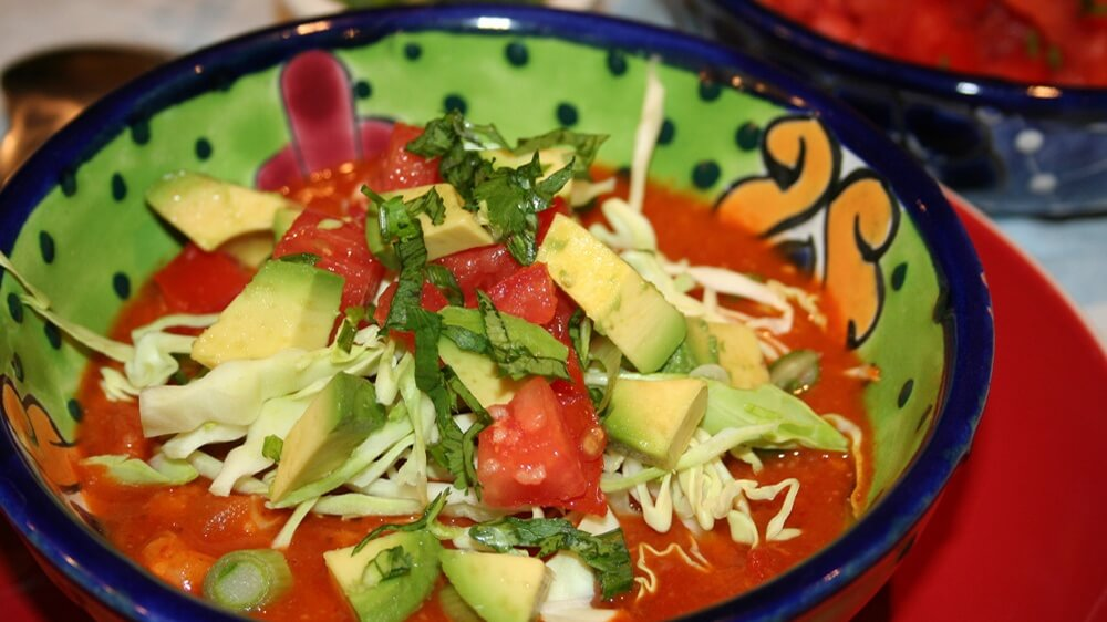 Vegan Mexican Pozole Rápido With Hominy and Pinto Beans