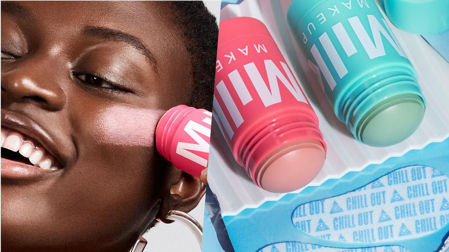 Milk Makeup Launches Vegan Roll-On Face Mask Sticks and De-Puffing Gel Eye Patches for Dark Circles