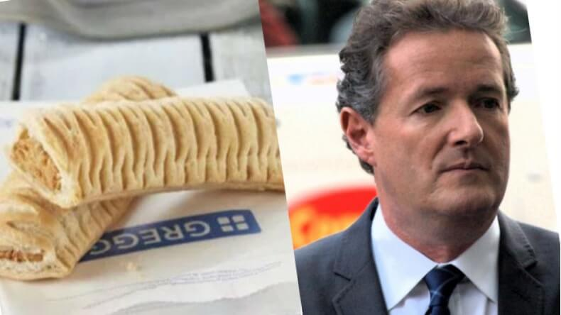 Greggs Shuts Down Piers Morgan for Hating On Vegan Sausage Roll