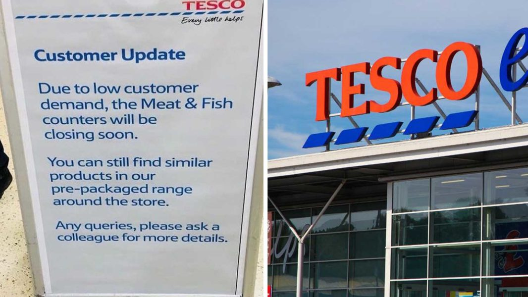 Tesco Is Shutting Down Meat Counters Due to Lack of Demand
