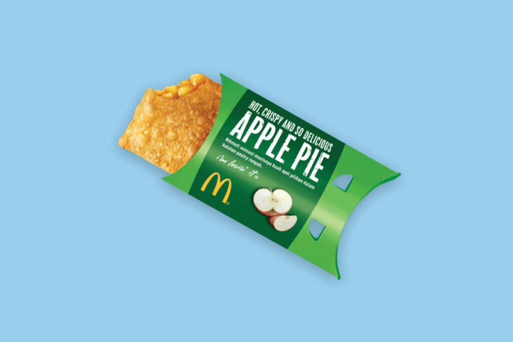 Image of the Apple Pie, one vegan-friendly option that can be ordered at most McDonald's.