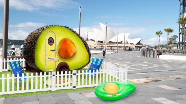 You Can Now Sleep in an Avocado Shaped Hotel Next to Sydney Harbor