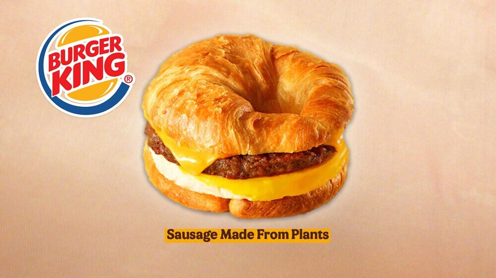 Burger King Now Has Croissan'wiches With Vegan Breakfast Sausages