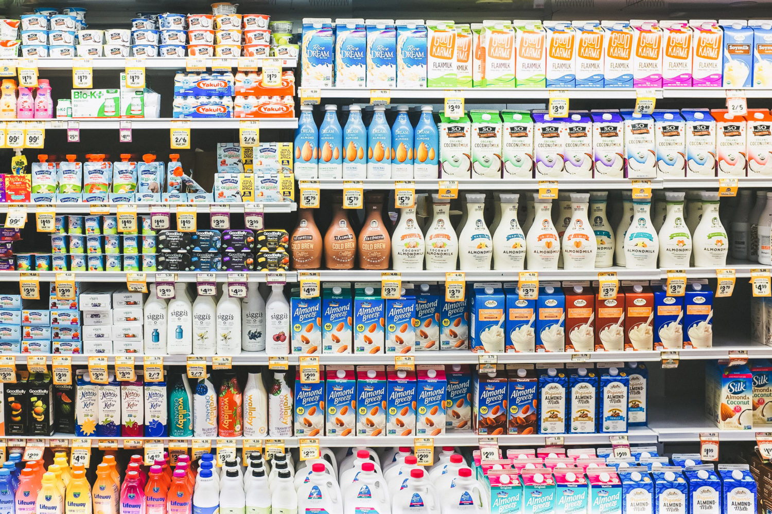 Try out all of the options that the vegan aisle now has to offer. | Unsplash