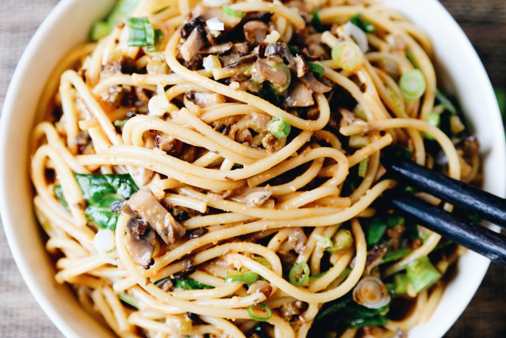 """Pickled Plum's Dan Dan noodles are """"spicy, sweet, and tangy."""""""