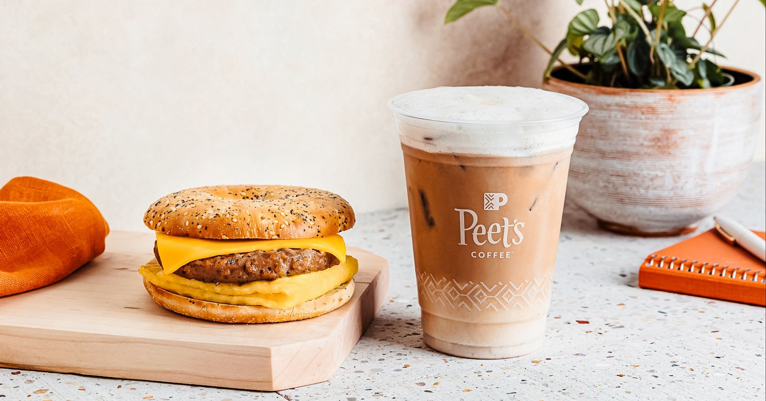 Peet's Coffee Vegan Menu Expands With Sausage and Egg Breakfast Sandwich