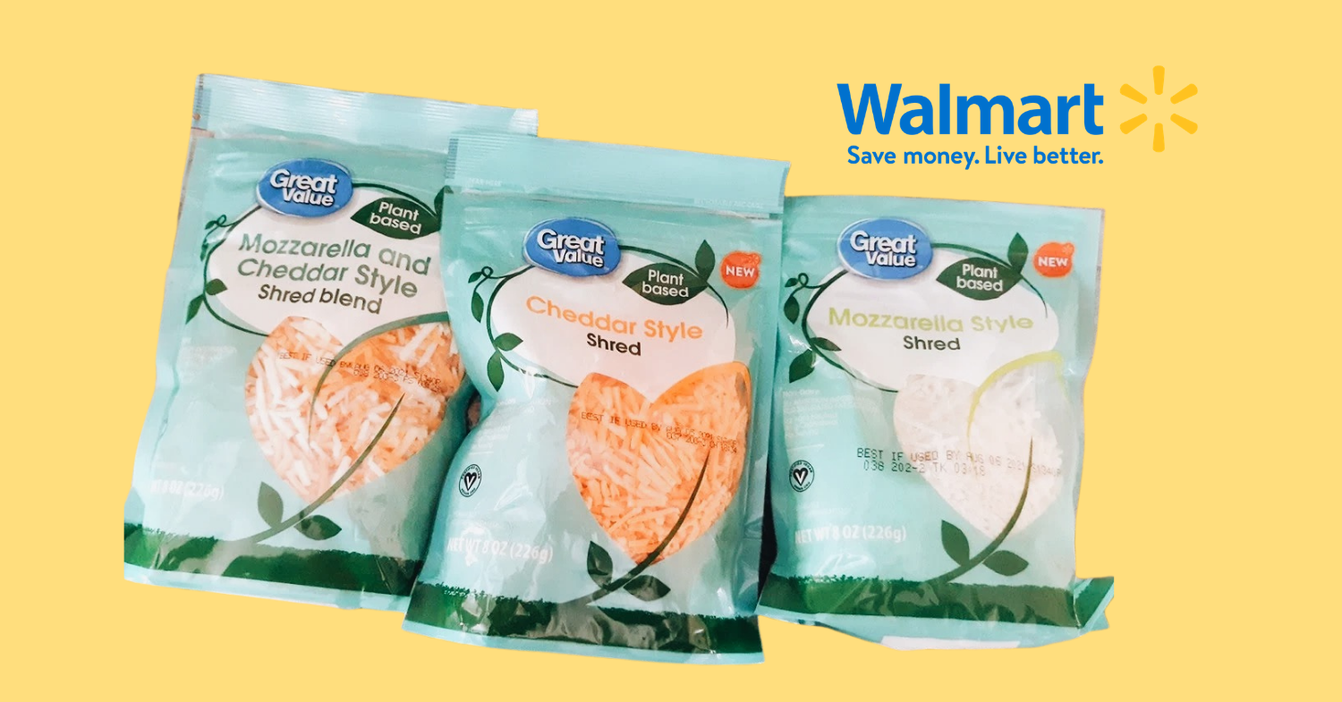 Walmart Expands Vegan Cheese Options With Own-Brand Dairy-Free Mozzarella and Cheddar
