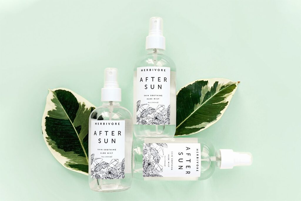 A few spritzes from this aloe-infused mist will cool and hydrate burnt skin.