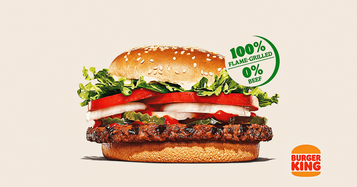 Burger King Singapore just introduced the Plant Based Whopper, featuring a vegan patty from the Vegetarian Butcher