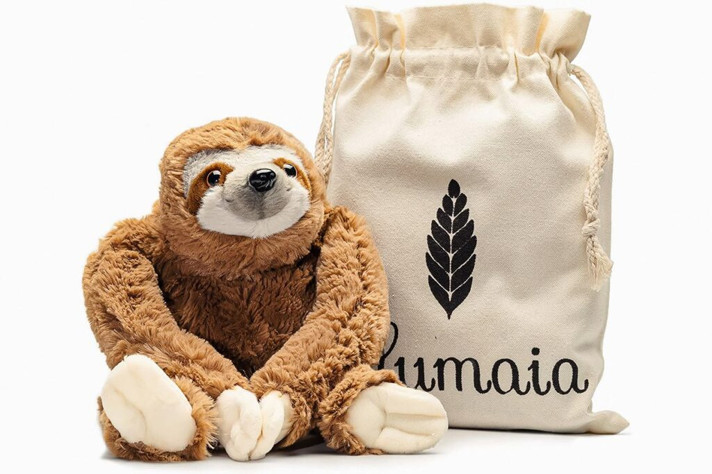 Ease cramps with this sustainable sloth heating pad.