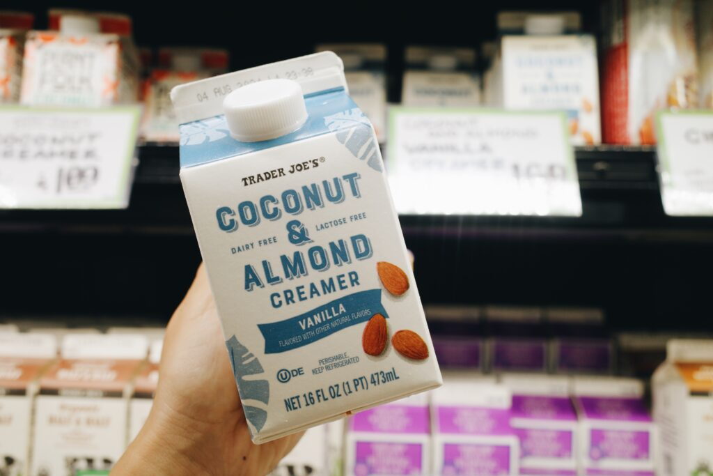 Trader Joe's dairy-free coconut and almond creamer.