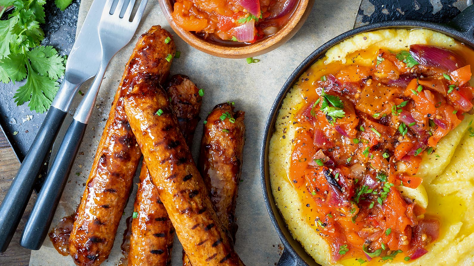 Boerewors with Roasted Red Pepper Salsa