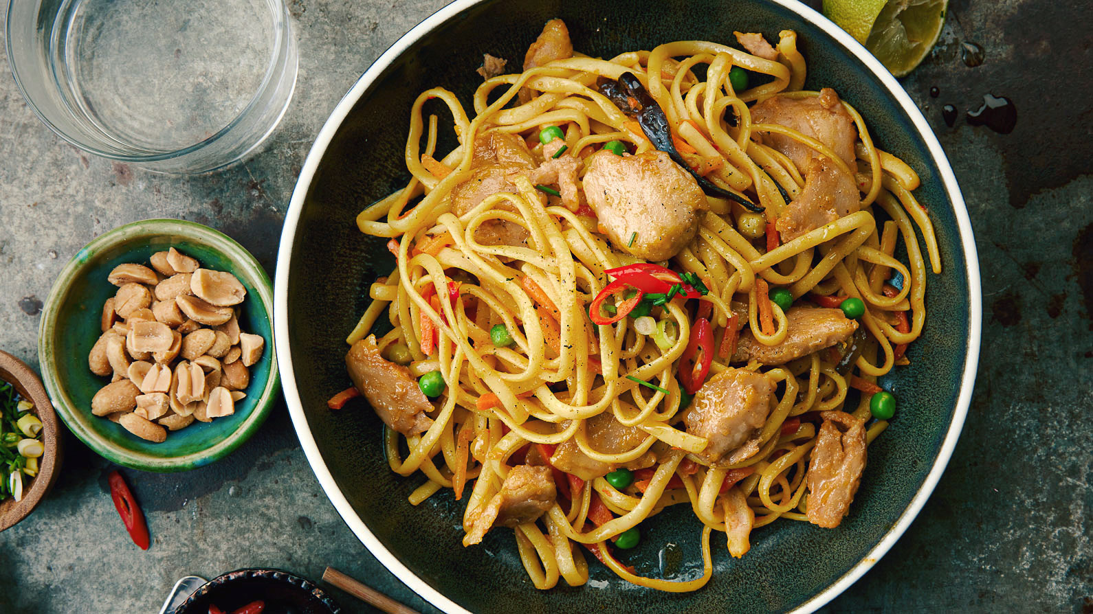 Stir-Fried Chick'n and Lo Mein