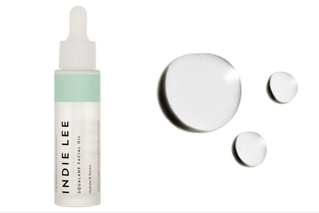 Indie Lee's plant-derived squalane on a white background.