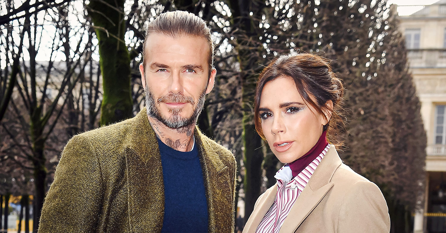 Photo of the Beckhams near their Cotswolds mansion.