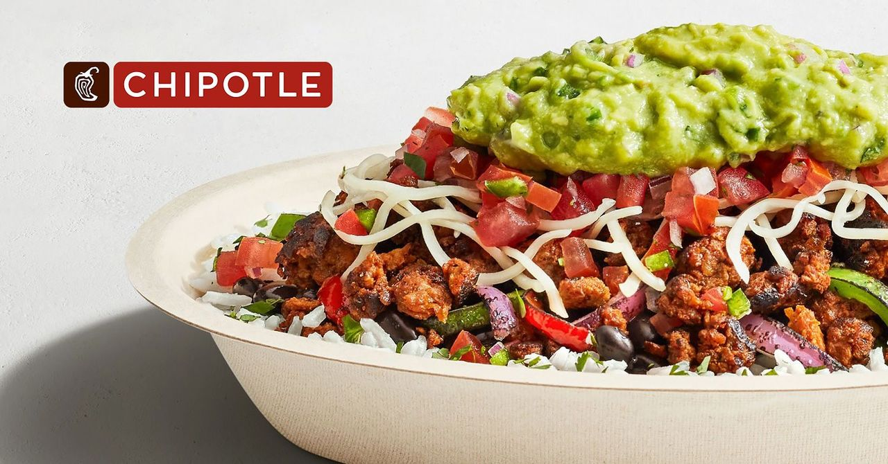 A bowl with vegan chorizo from Chipotle.